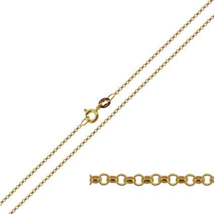 9ct Yellow Gold 1.2mm Belcher Chain