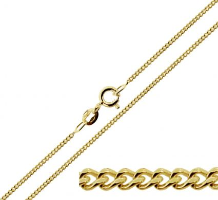 9ct Yellow Gold Plated 1.8mm Diamond Cut Curb Chain