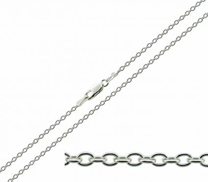 Sterling Silver 1.6mm Trace Chain