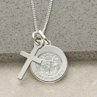 Sterling Silver Confirmation & Cross Pendants With Optional Engraving and Chain
