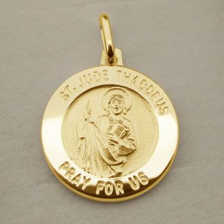 9ct Yellow Gold Plated St Jude Thaddeus Medal