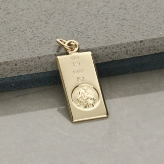 9ct Yellow Gold Custom Hallmarked Small St Christopher Ingot