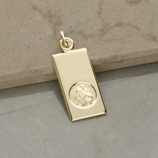9ct Yellow Gold Small St Christopher Ingot With Optional Engraving