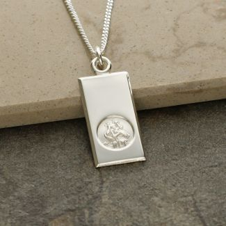 Sterling Silver Small St Christopher Ingot