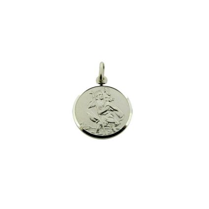 Sterling Silver 12mm St Christopher Pendant