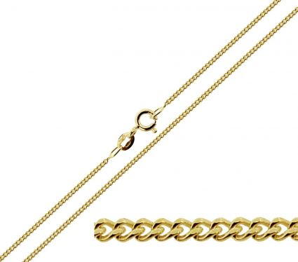 9ct Yellow Gold Plated 1.4mm Diamond Cut Curb Chain