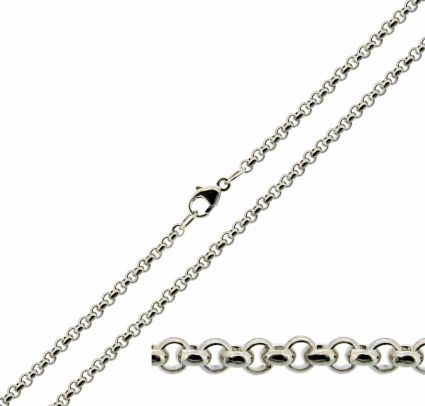 Sterling Silver 2.4mm Belcher Chain