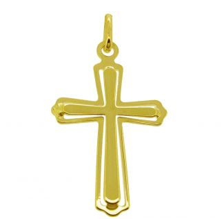 9ct Solid Yellow Gold Layered Celtic Cross Pendant