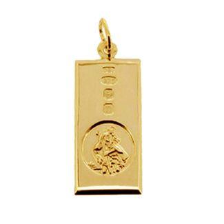 9ct Yellow Gold Custom Hallmarked Large St Christopher Ingot