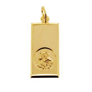 9ct Yellow Gold Large St Christopher Ingot