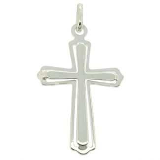 Sterling Silver Layered Celtic Cross Pendant