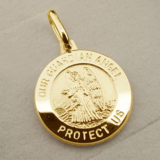 9ct Yellow Gold Plated Guardian Angel Pendant
