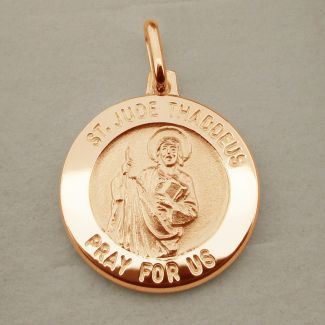 9ct Rose Gold Plated St Jude Thaddeus Medal