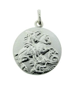 Sterling Silver Reversible St George Pendant