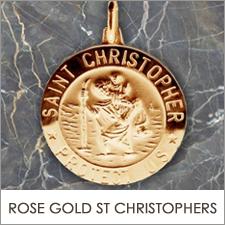 Rose Gold St Christopher Pendants