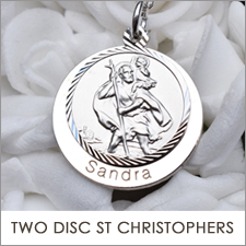 Double Disc  St Christopher Pendants