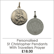 Personalised Travellers Prayer St Christopher Range